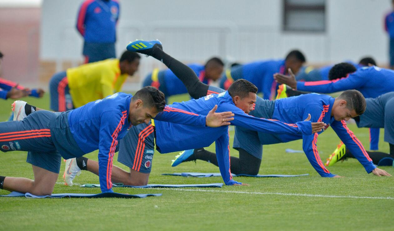 Colombia entrenamiento Rusia jun 15