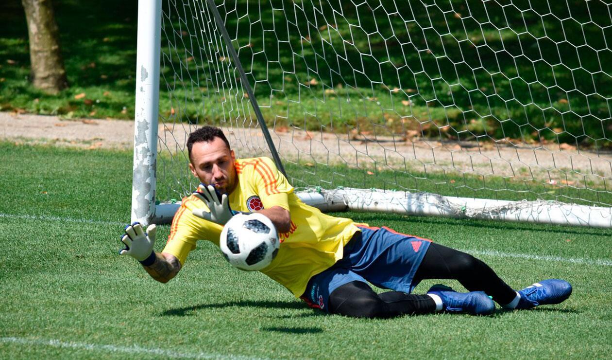 David Ospina en el entrenamiento de la Selección Colombia