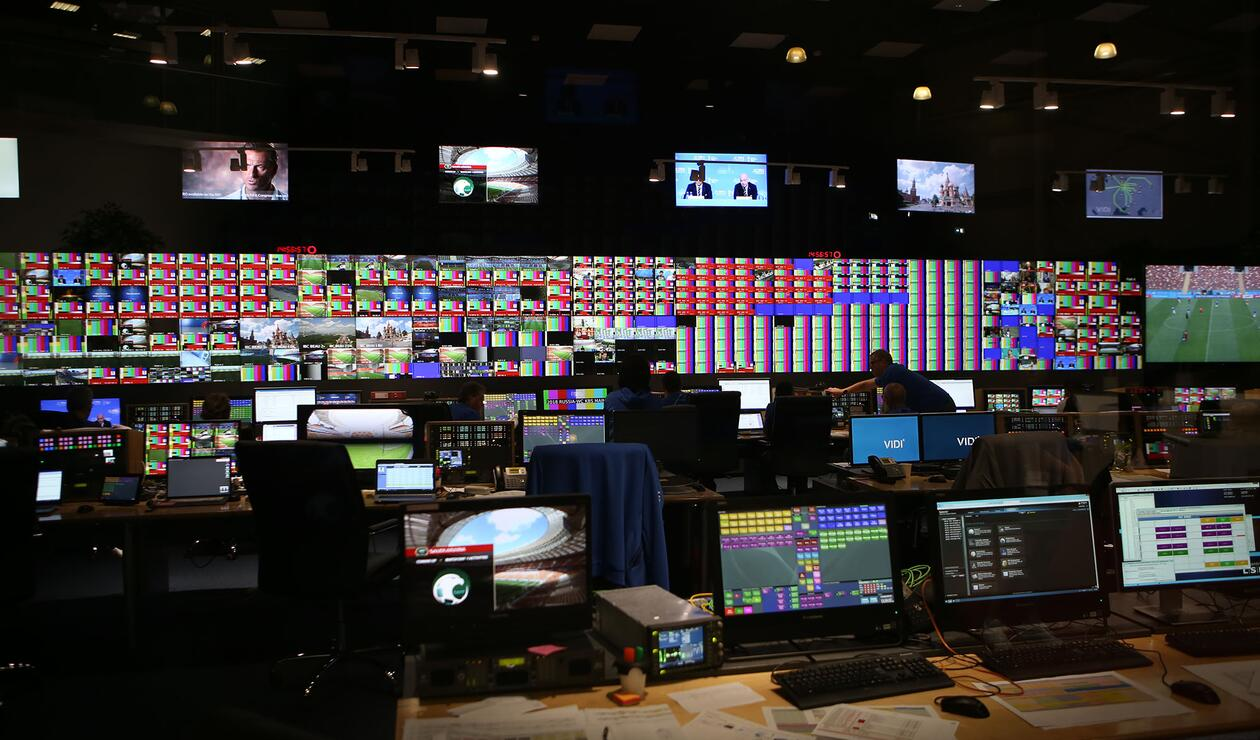 IBC Centro Interncional de Medios centro de equipos en Moscú