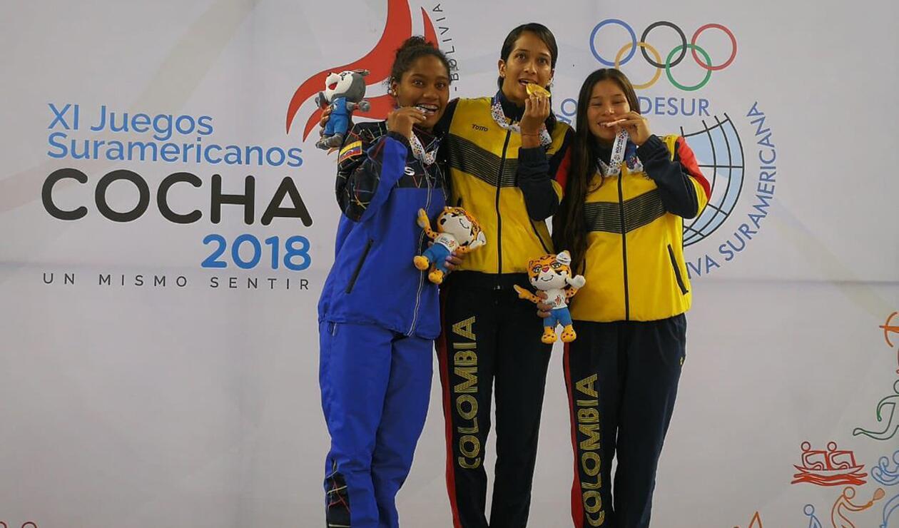 Diana Pineda y Viviana Uribe Bermudez clavadistas
