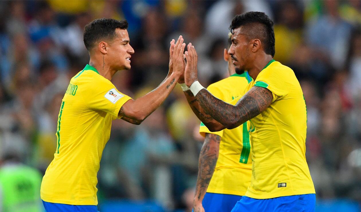 Coutinho y Paulinho, claves con sus goles para Brasil en el Mundial