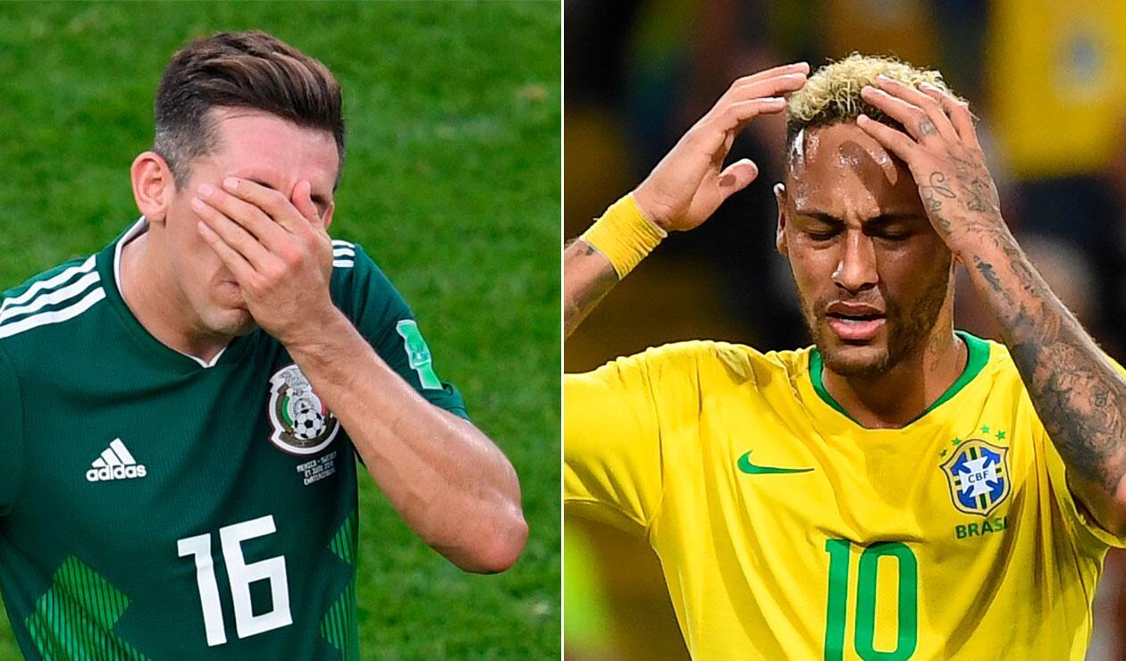 México se enfrentará por quinta vez a Brasil en un Mundial