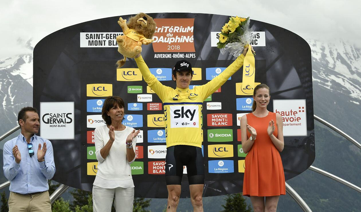 El galés Geraint Thomas consagrado ganador de la Critérium Dauphiné