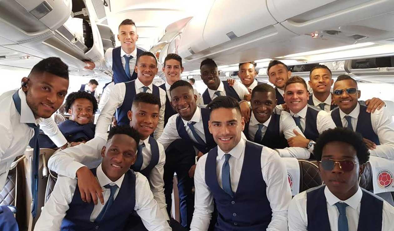 Selección Colombia antes de partir a Rusia
