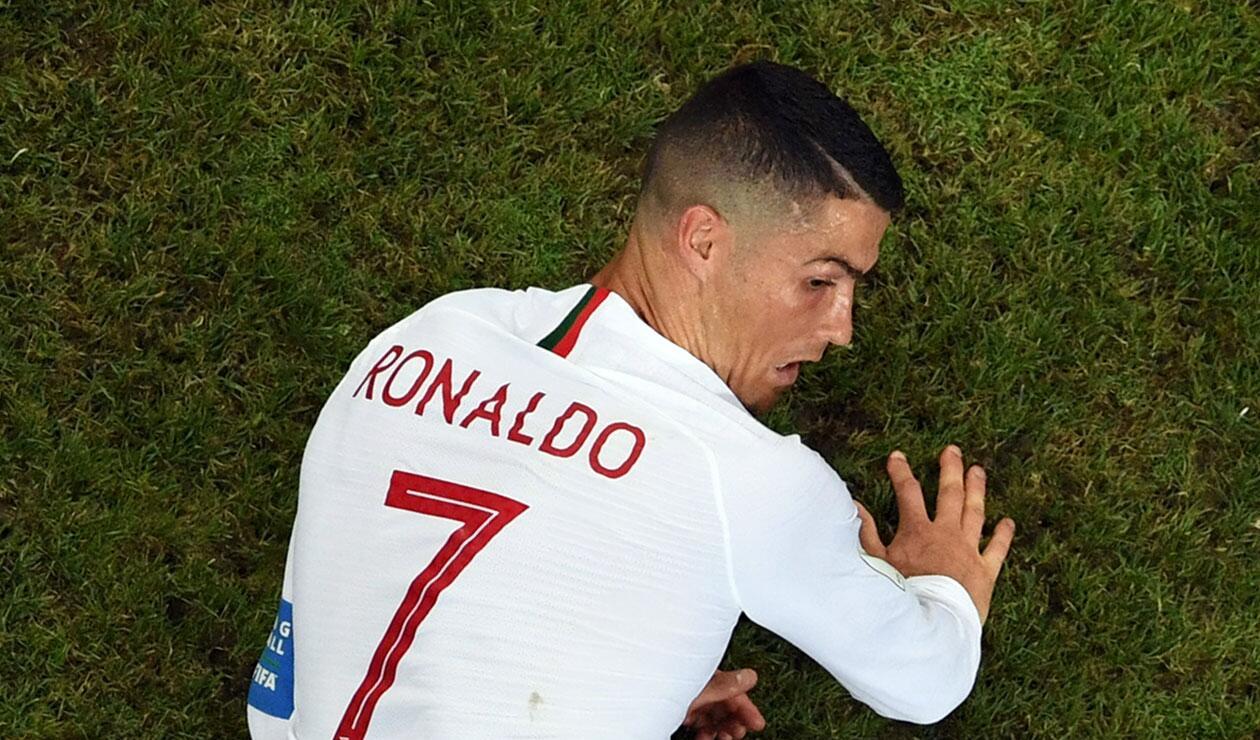 Cristiano Ronaldo durante el partido Uruguay Vs Portugal en el Mundial de Rusia 2018