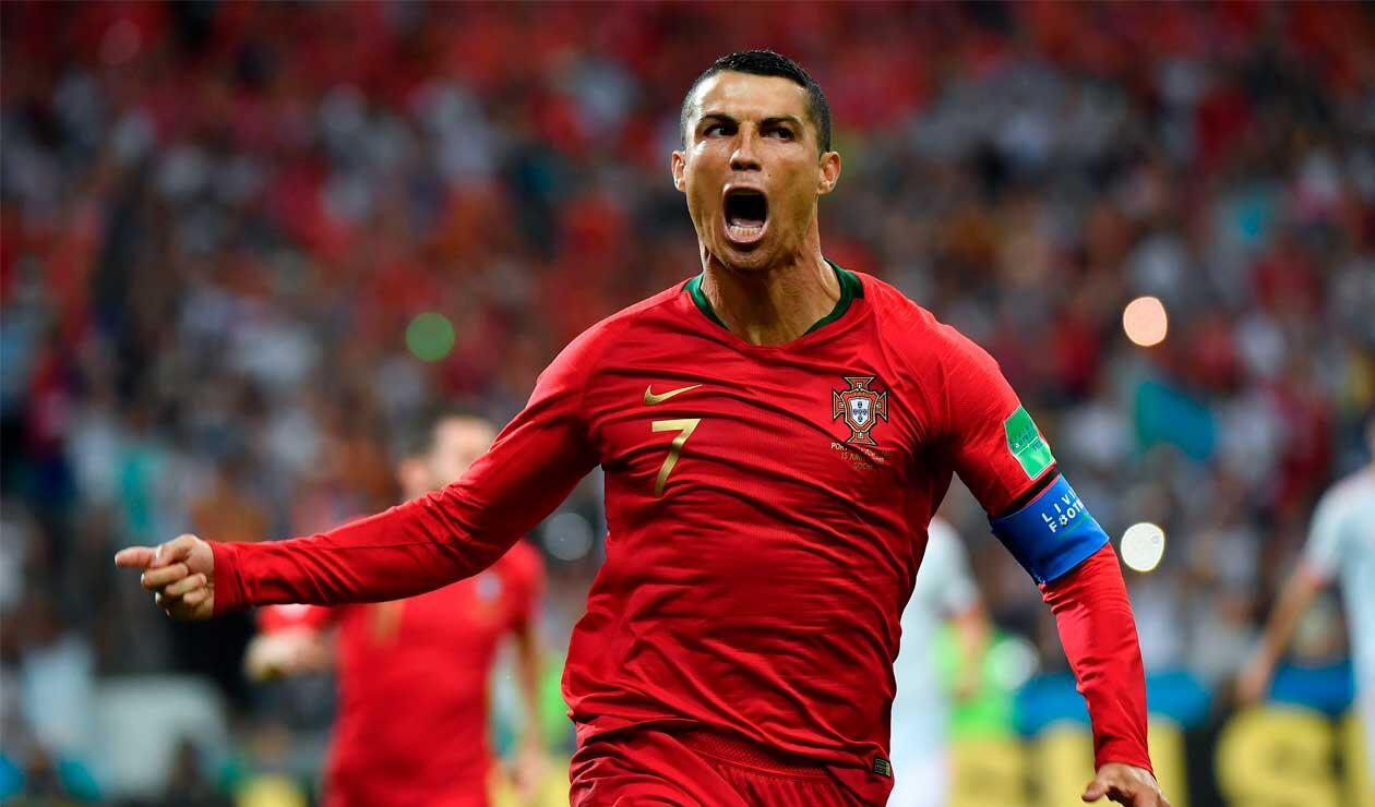 Cristiano Ronaldo celebrando el gol ante España en el Mundial