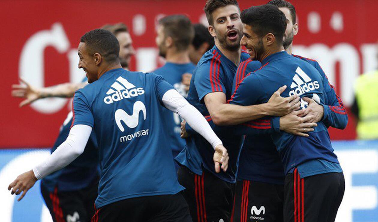 España en entrenamiento previo al Mundial de Rusia 2018