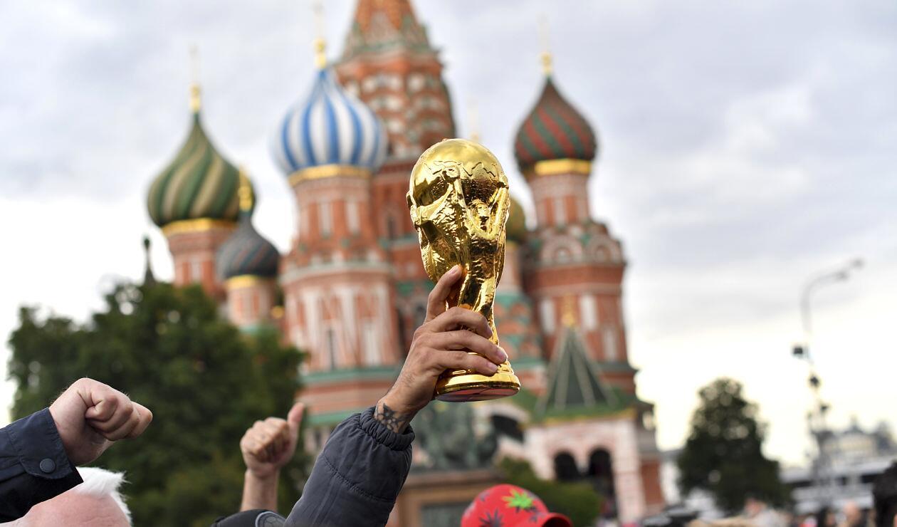 Imagen alegórica de la Copa Mundo