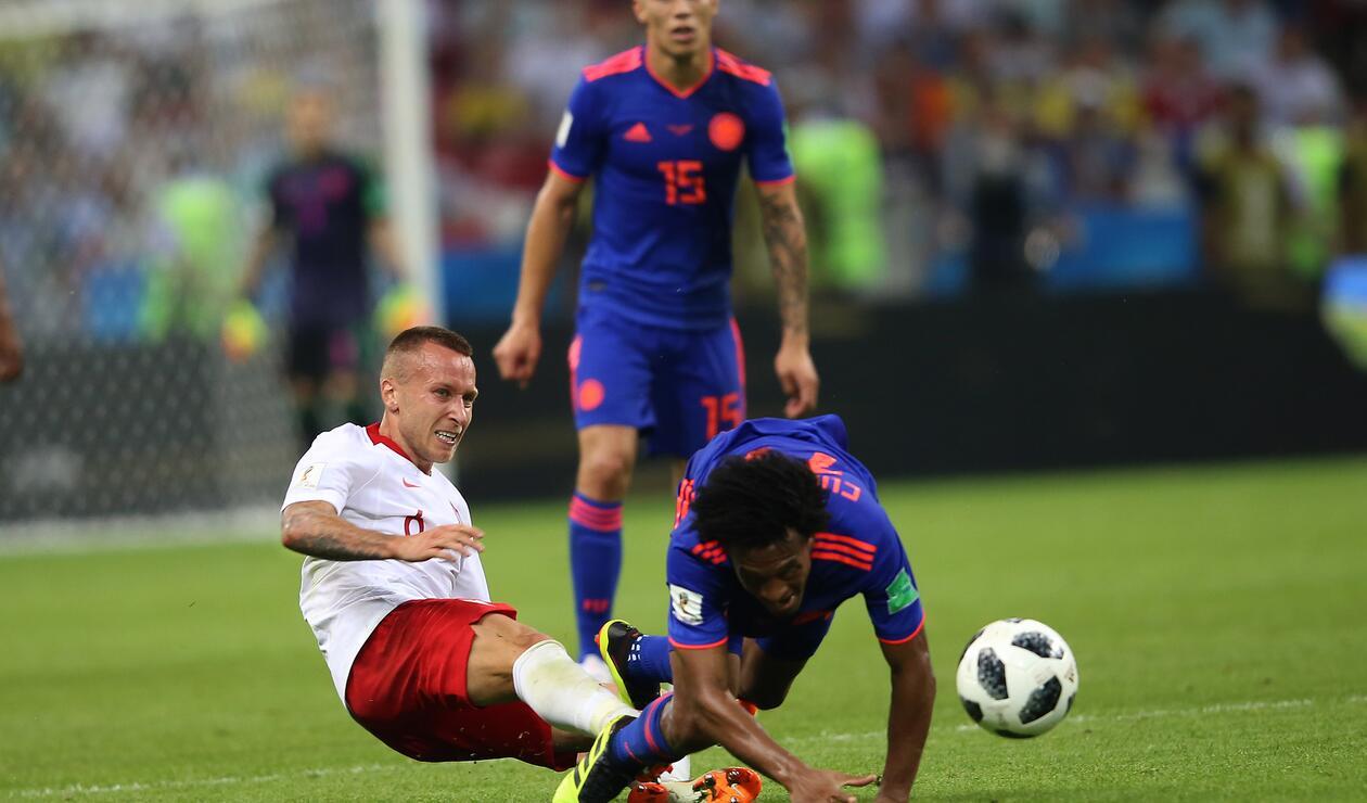 Falcao García no tuvo obstáculos para marcar su primer gol mundialista