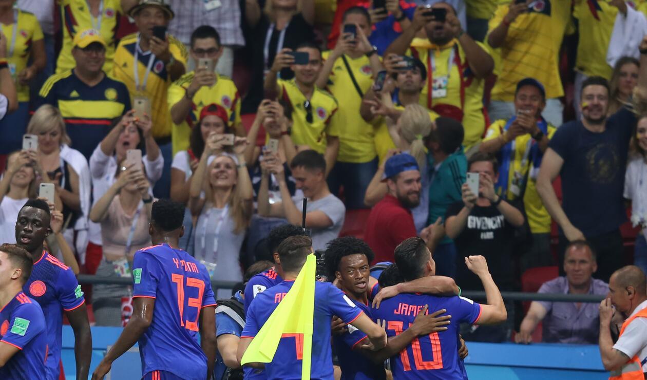 Colombia venció a Polonia de la mano de Falcao, Quintero y James