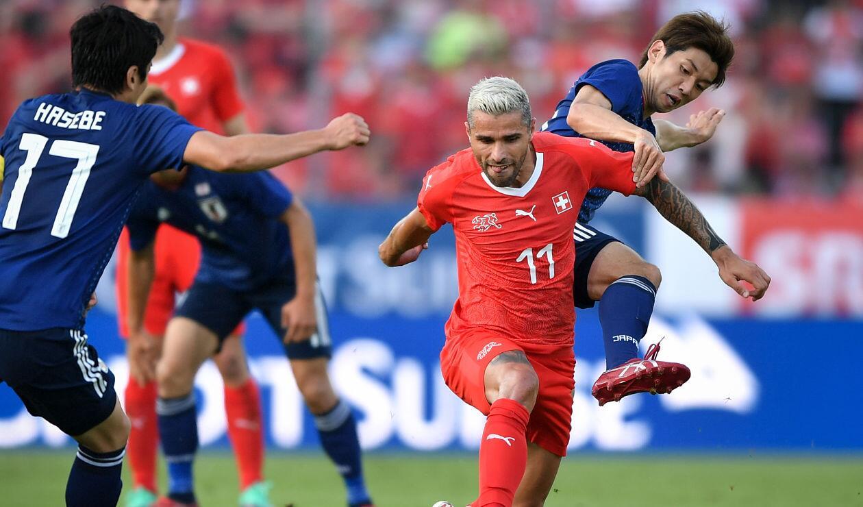 Suiza Vs Japón en partido amistoso previo a Rusia 2018