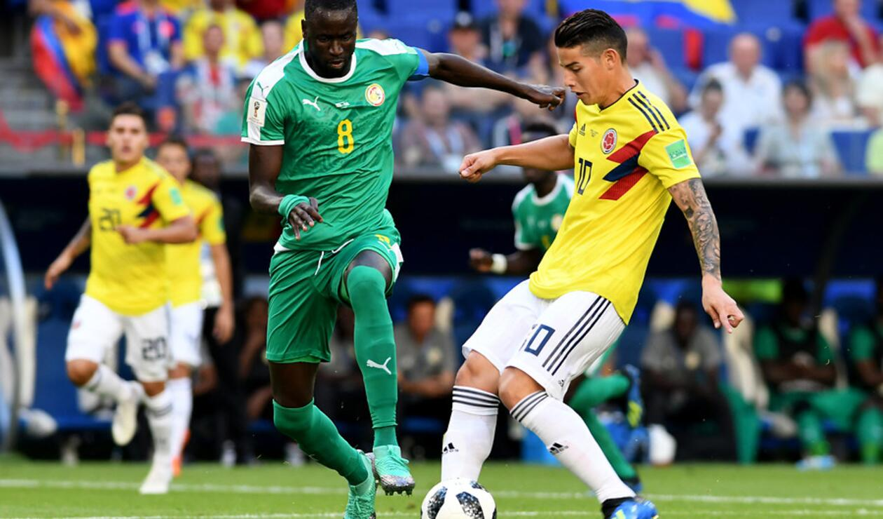 James Rodríguez ante Senegal en Rusia 2018