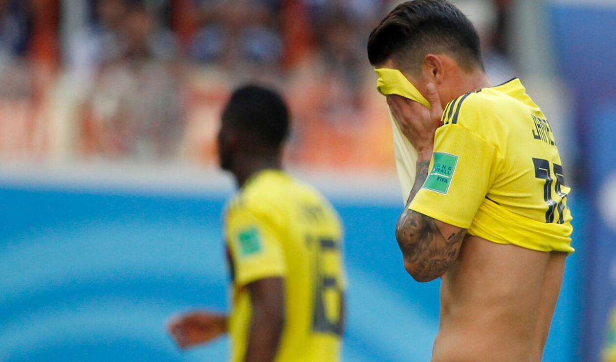 James Rodríguez lesionado con la Selección Colombia
