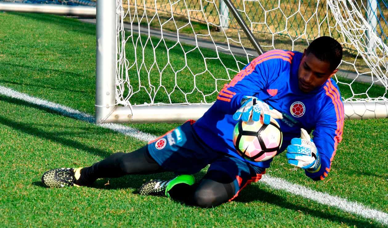 José Fernando Cuadrado preparándose en un entreno de la Selección Colombia