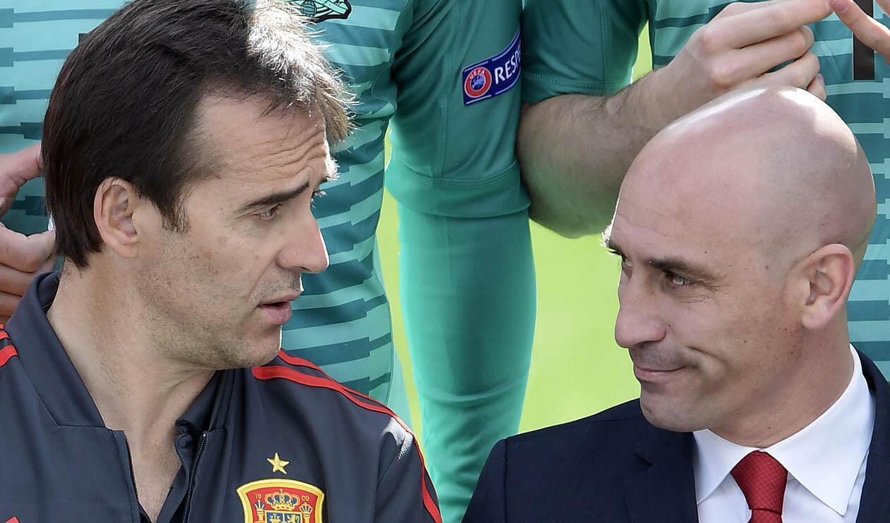 Julen Lopetegui y Luis Rubiales protagonizaron el escándalo en la Selección Española