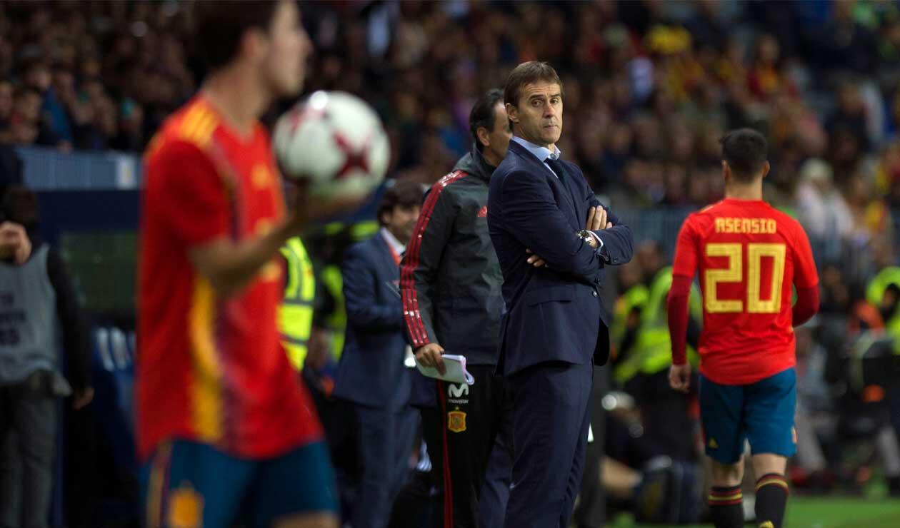 Julen Lopetegui fue destituido como técnico de España