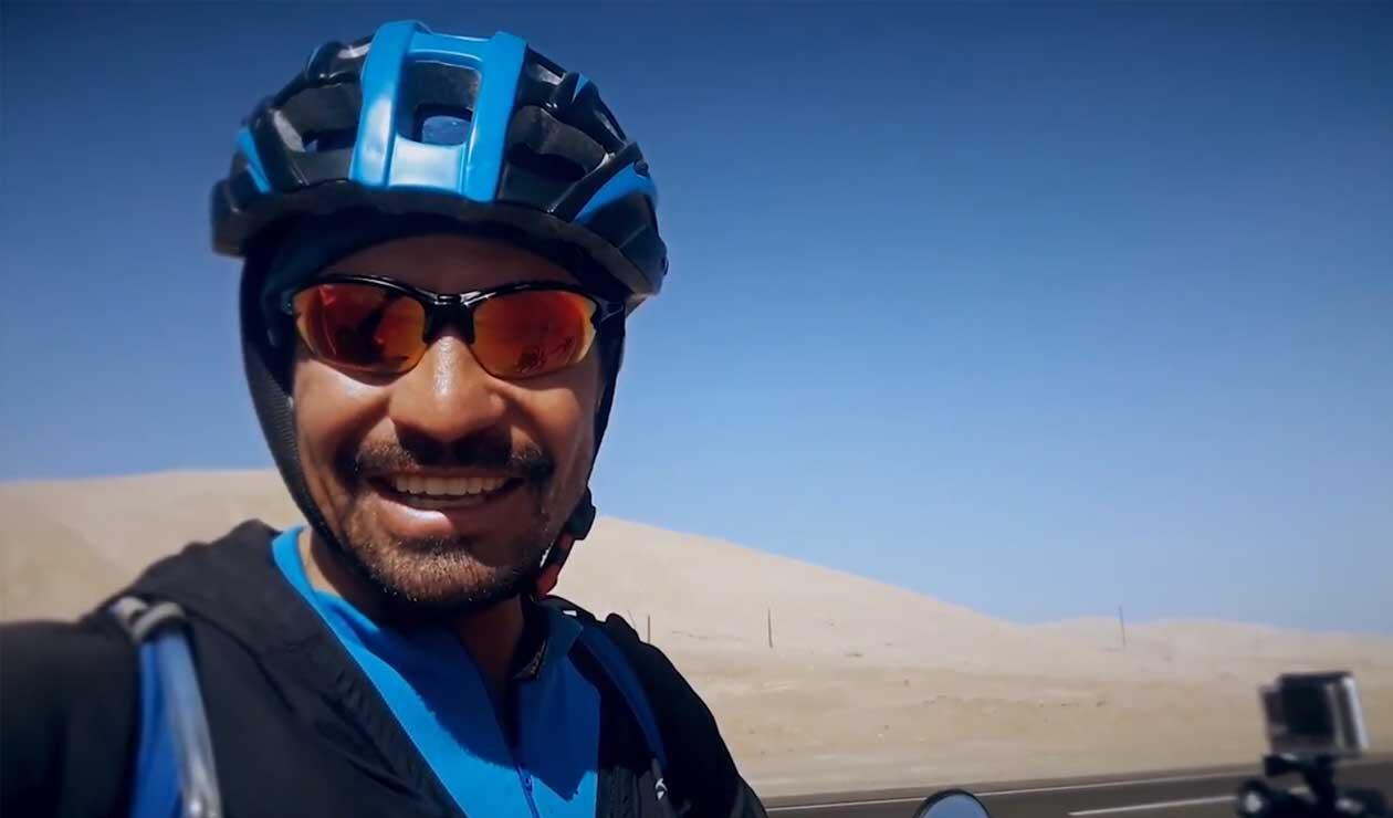 Lucas Ledezma, de Argentina a Rusia en bicicleta