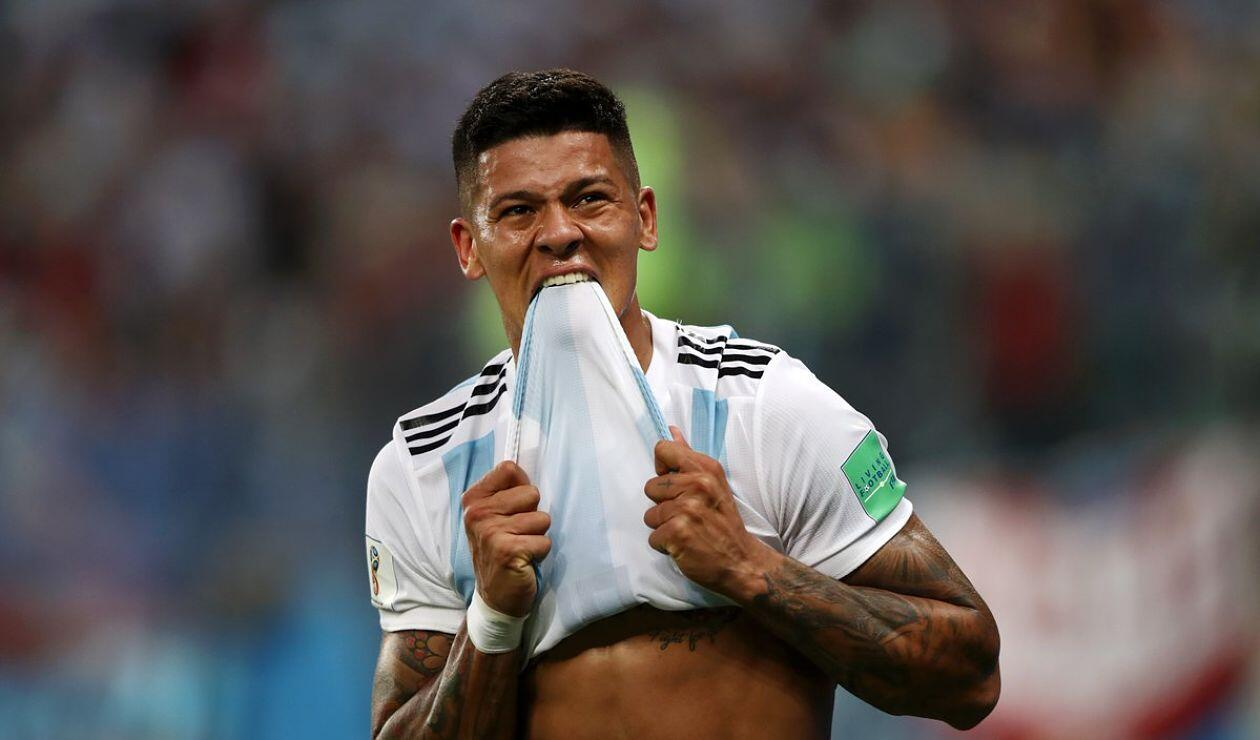 Marcos Rojo Argentina Nigeria Rusia 2018