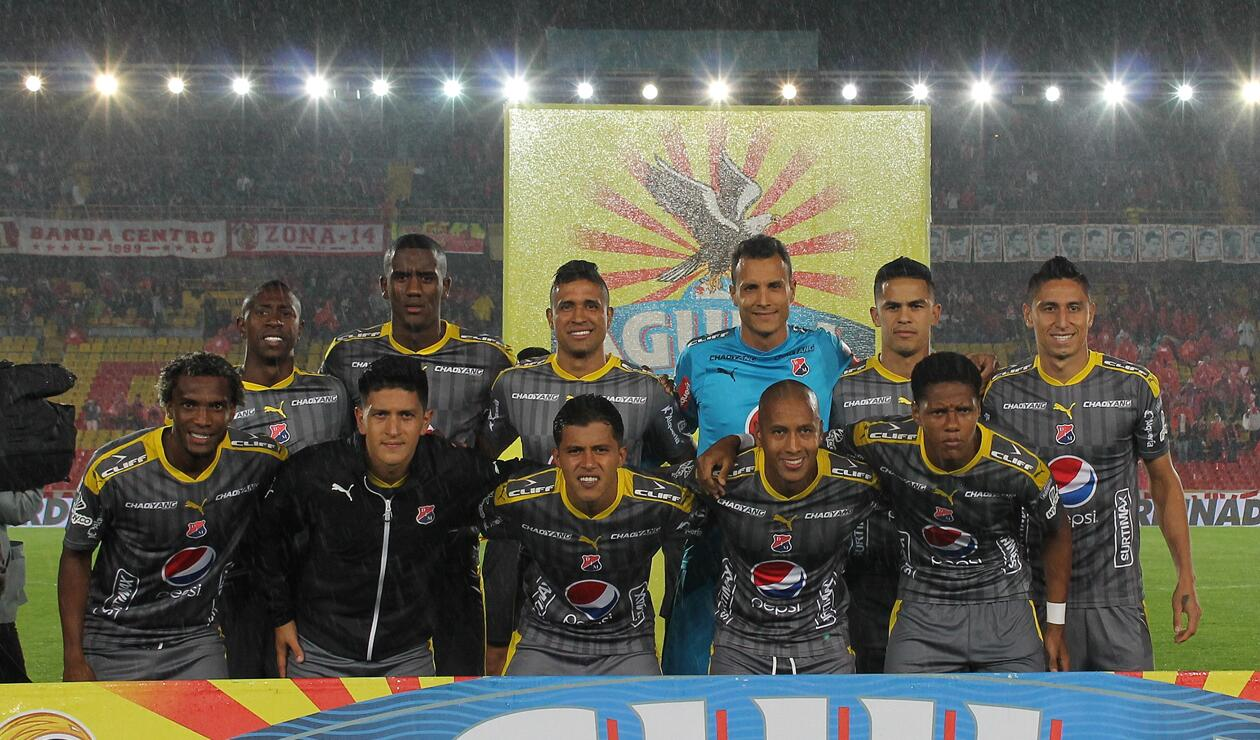 Jugadores del Medellín en el Campín