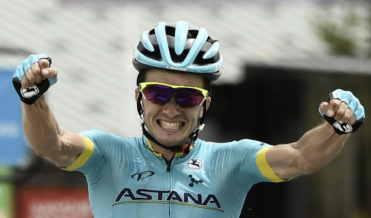 Pello Bilbao, ganador de la sexta etapa del Critériumde Dauphiné - Foto: AFP
