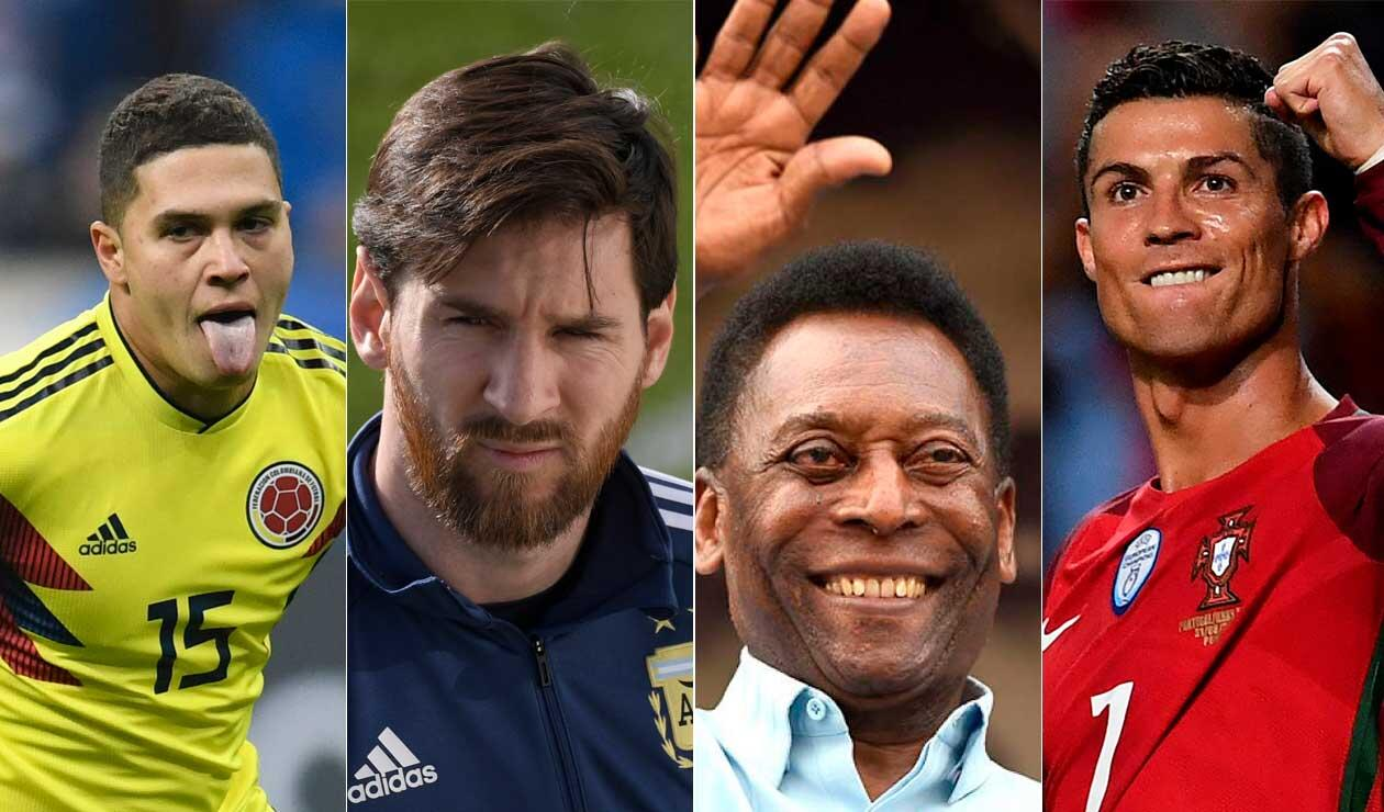 Juan Fernando Quintero, Messi, Pelé y Cristiano Ronaldo
