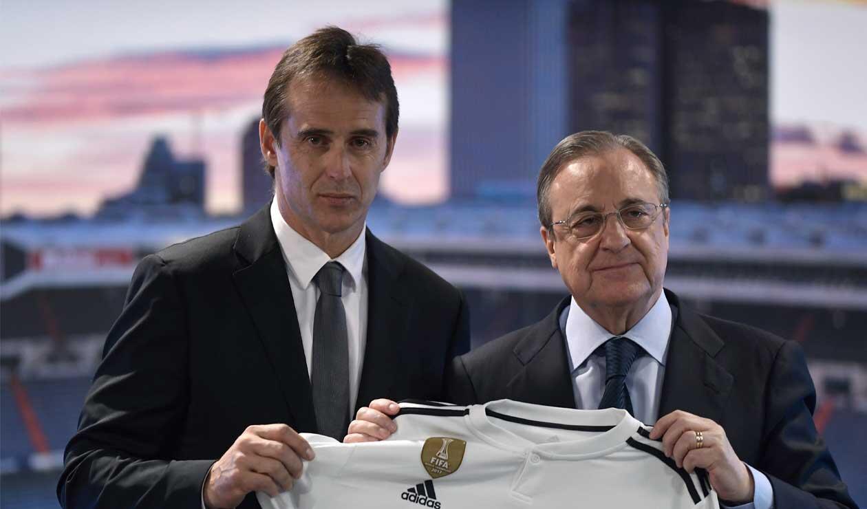 Lopetegui en la presentación como nuevo técnico del Real Madrid