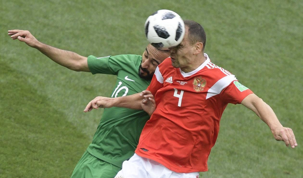 Arabia Saudita tuvo su peor debut frente a la local Rusia