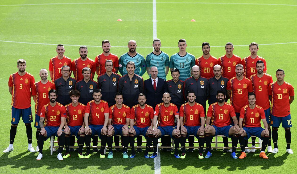 Selección Española con Julen Lopetegui como su entrenador