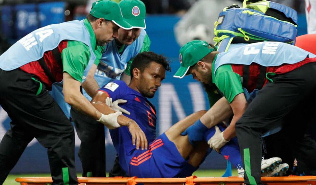 Abel Aguilar salió lesionado ante Polonia