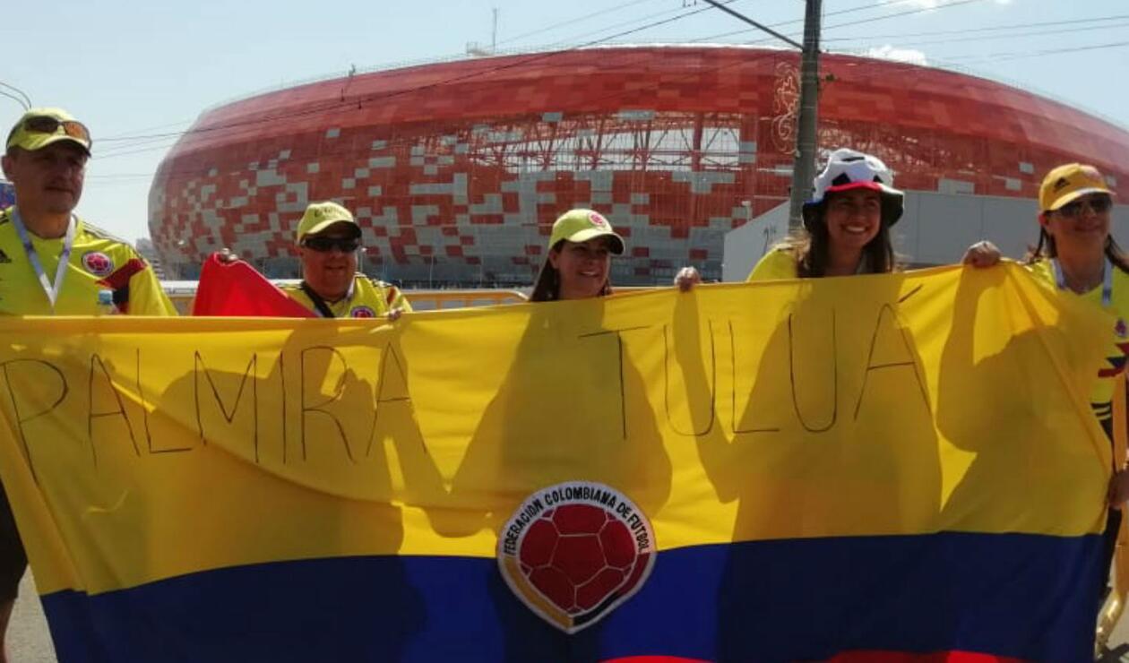 Los aficionados de Colombia en Saransk