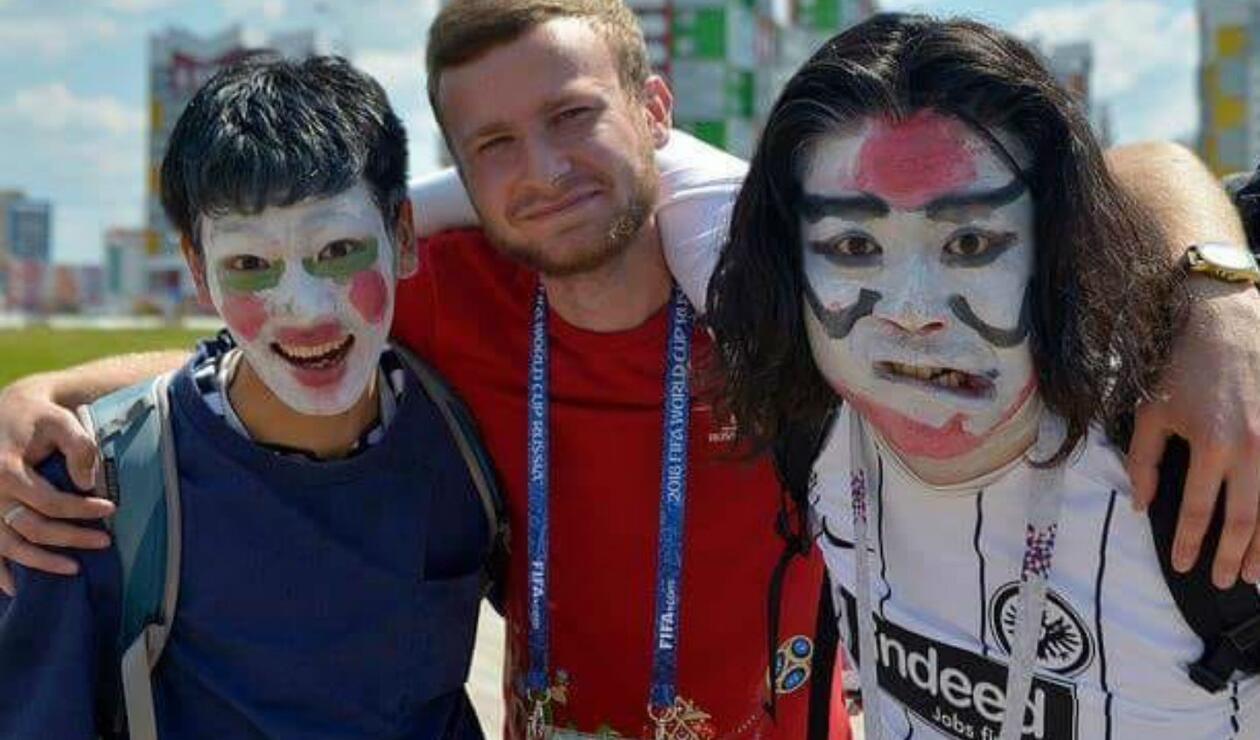 Los aficionados de Japón también llegaron a Saransk