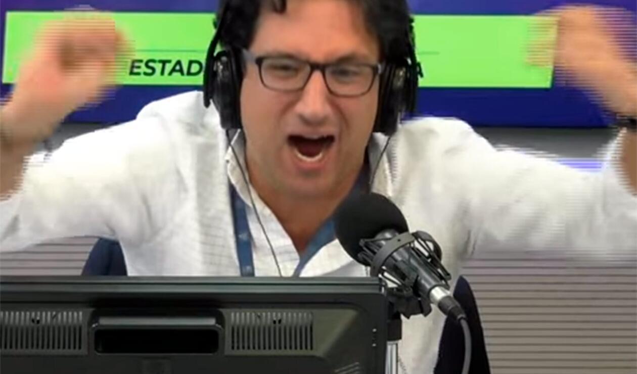 Antonio Casale narrando el gol de Yerry Mina en el Colombia vs Senegal