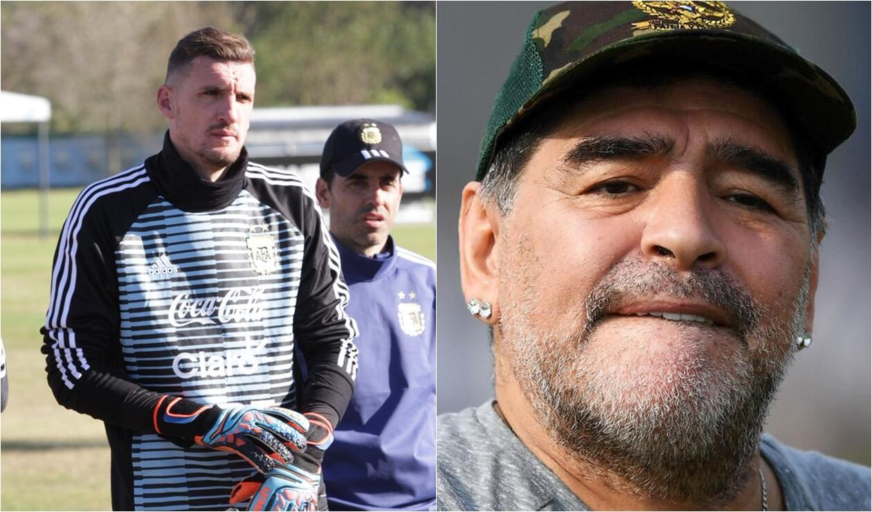 Diego Maradona habló del arquero Franco Armani
