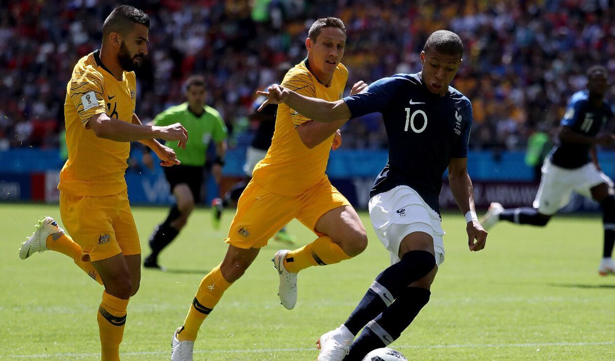 Kylian Mbappé delantero de Francia, Australia