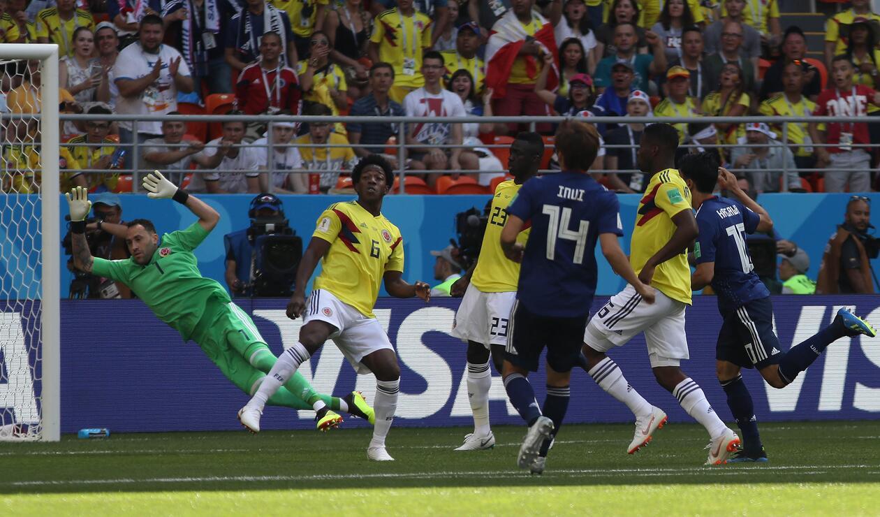 Selección Colombia ante Japón en su debut en el Mundial de Rusia 2018