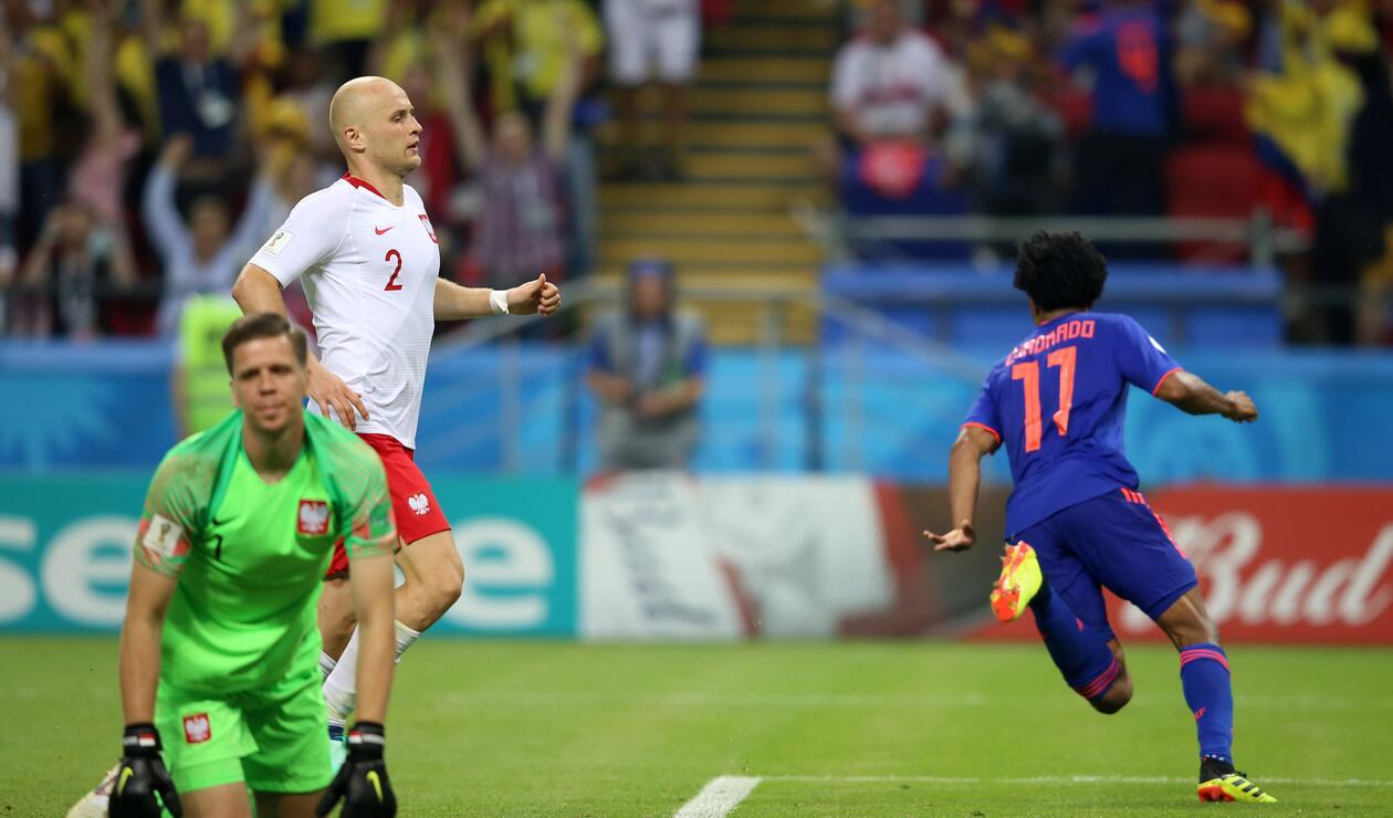 Cuadrado corre a celebrar su gol