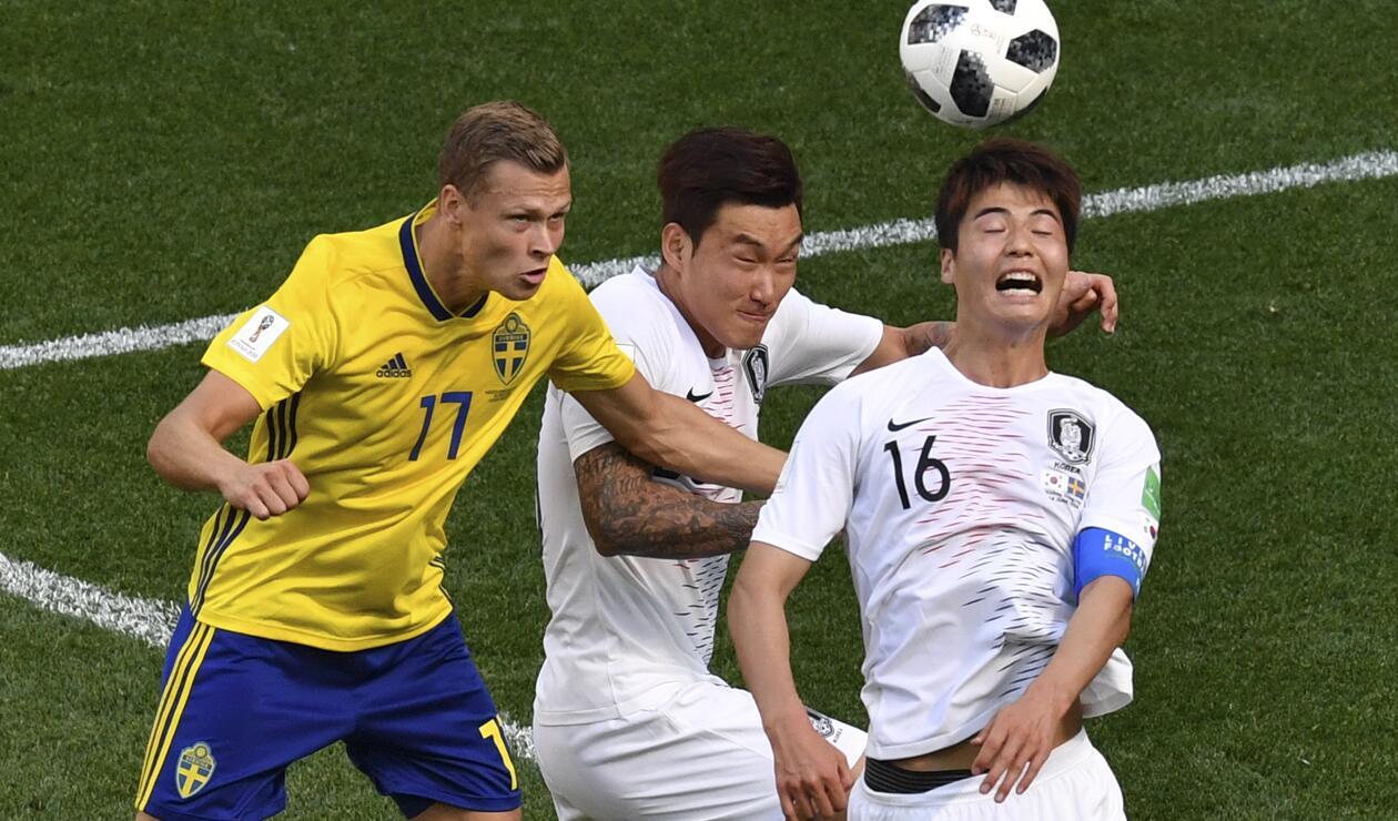 Viktor Claesson se destacó en el triunfo de Suecia sobre Corea