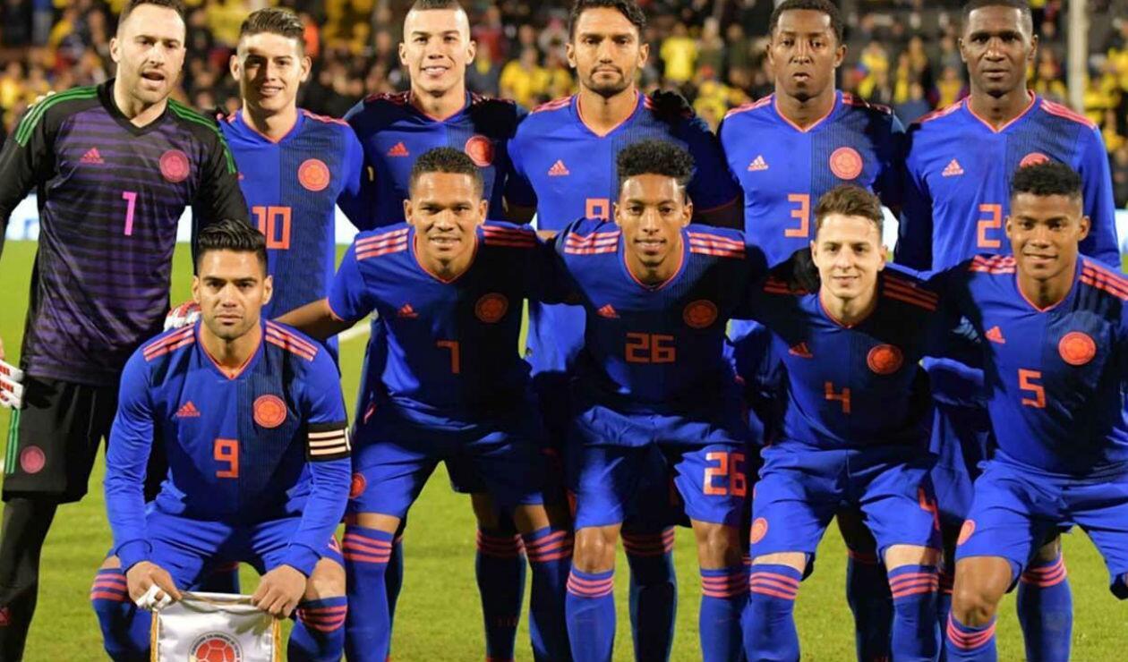 Selección Colombia formada previo al amistoso ante Australia