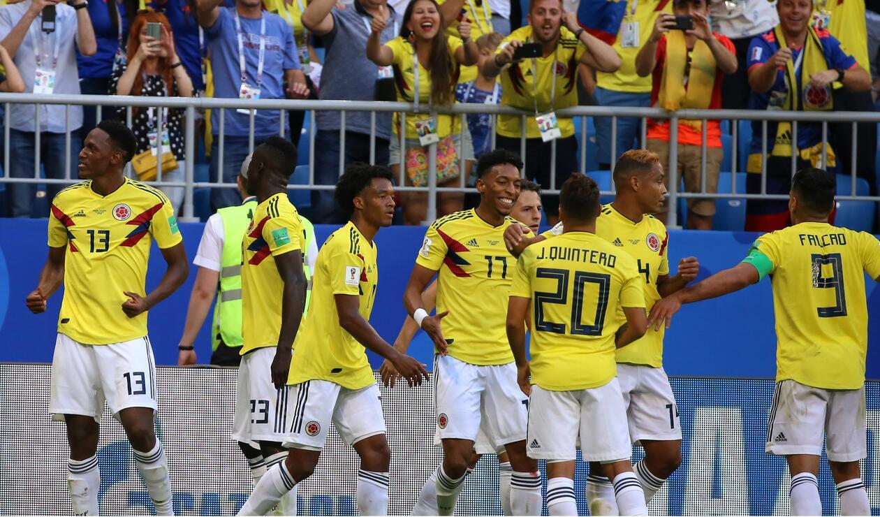 Colombia Senegal celebración
