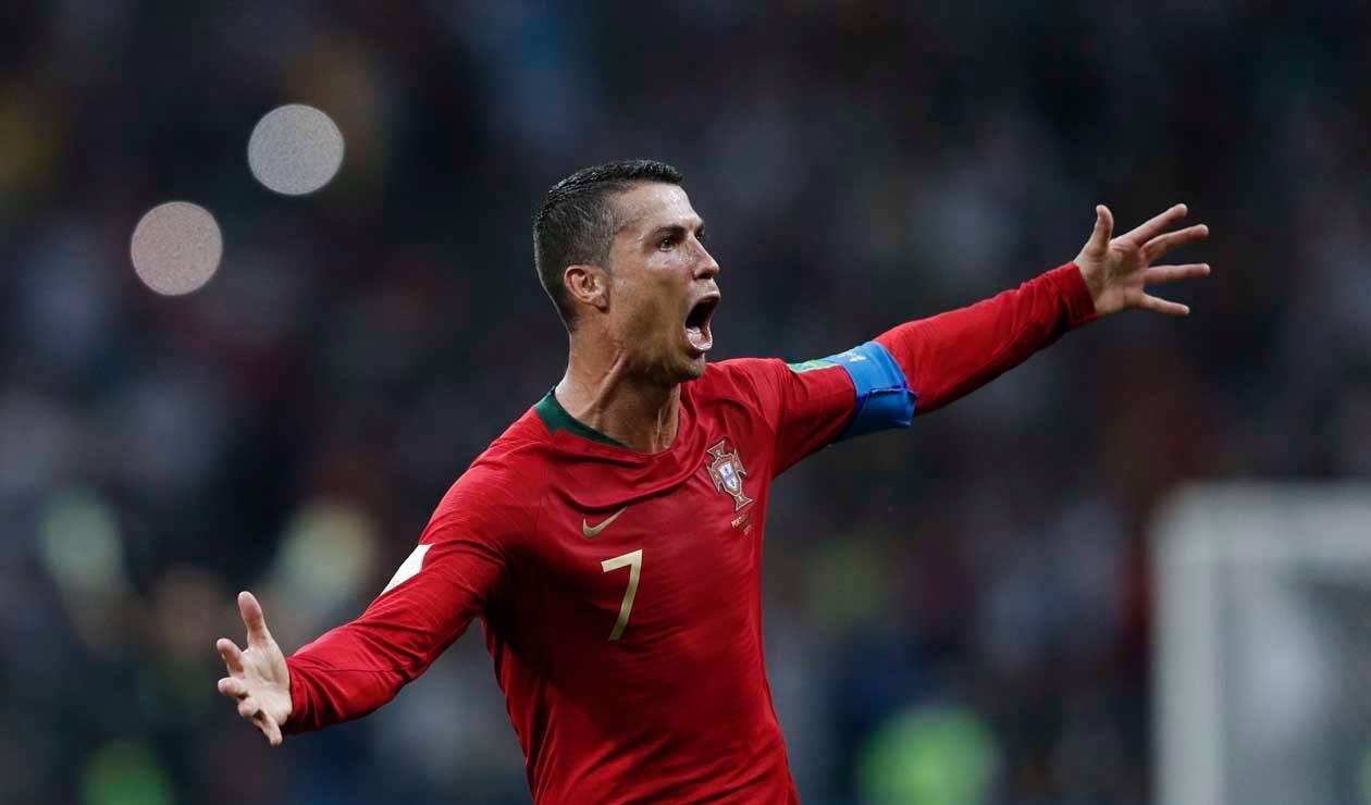Cristiano Ronaldo marcó 'triplete' en el debut de Portugal en la Copa del Mundo