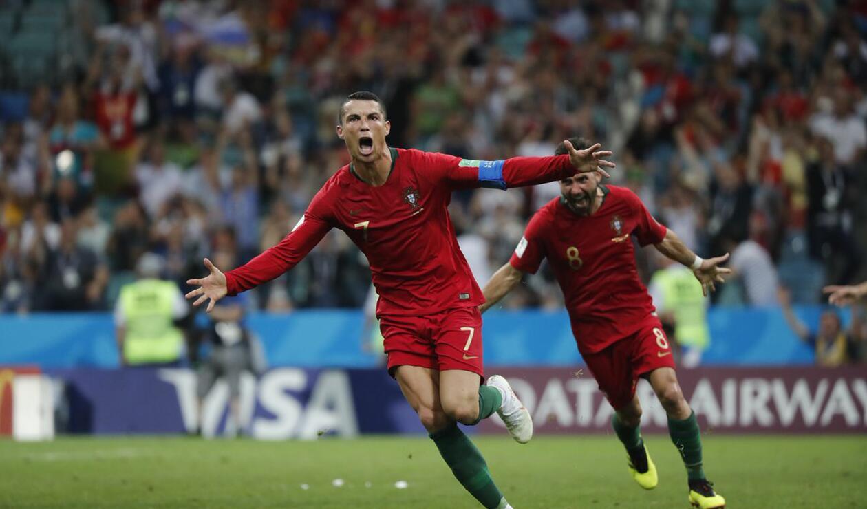 Cristiano Ronaldo delantero de Portugal