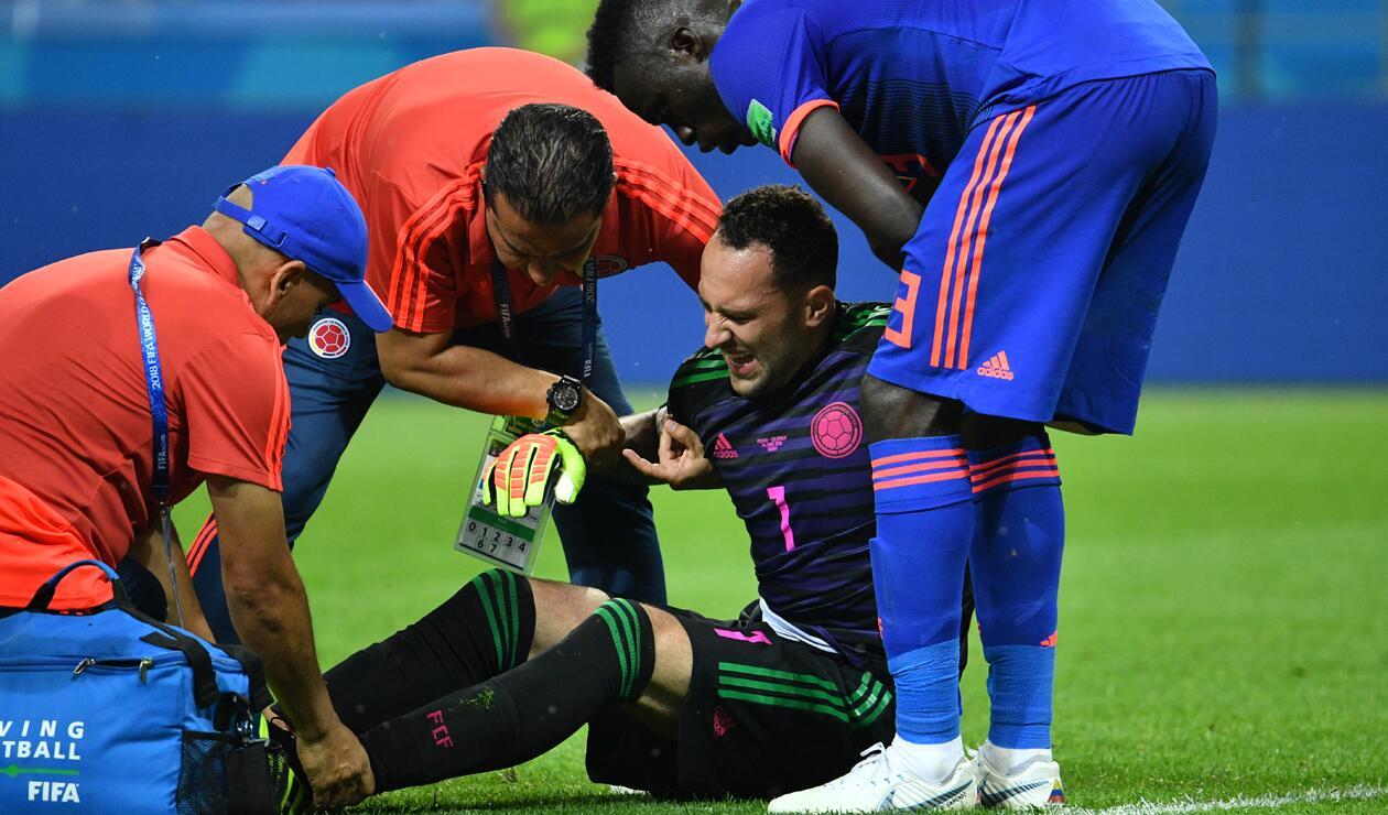 David Ospina chochó contra Mateus Uribe