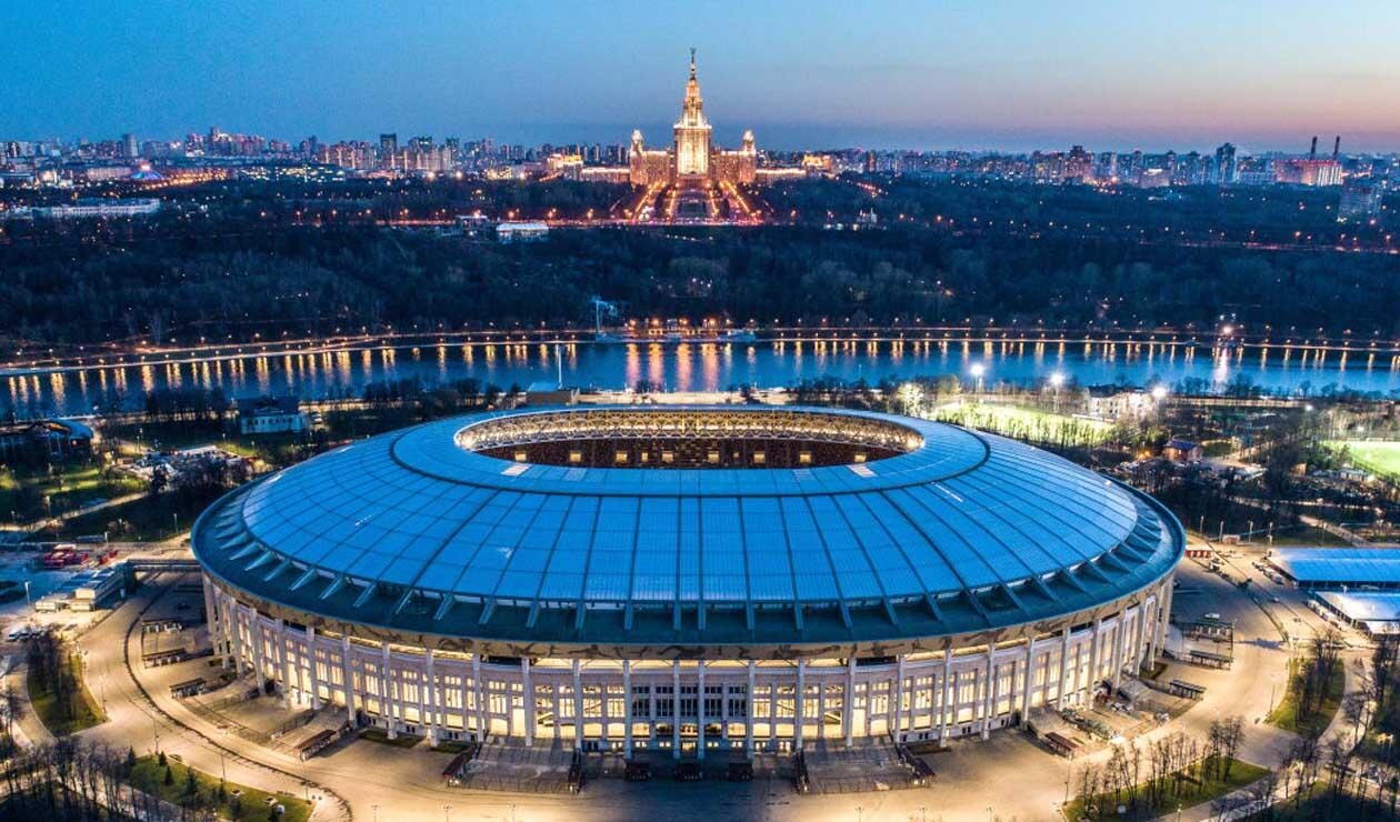 Estadio Luzhniki de Moscú, escenario del partido inaugural del Mundial de Rusia 2018
