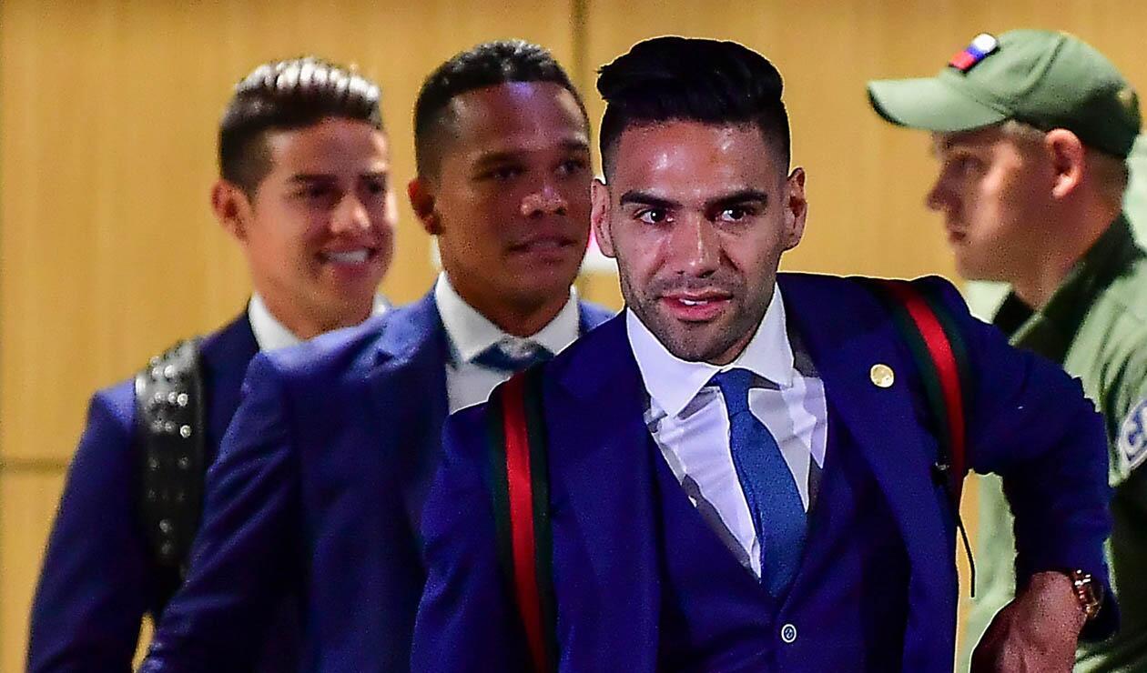Falcao García llegando con la Selección Colombia a Kazán, sede de la 'tricolor' en el Mundial de Rusia