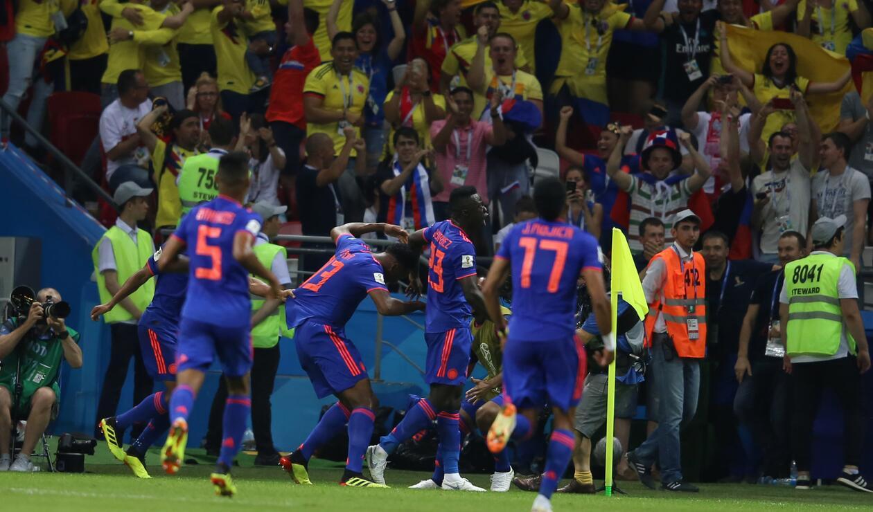 Colombia celebra que por fin marcó ante Polonia