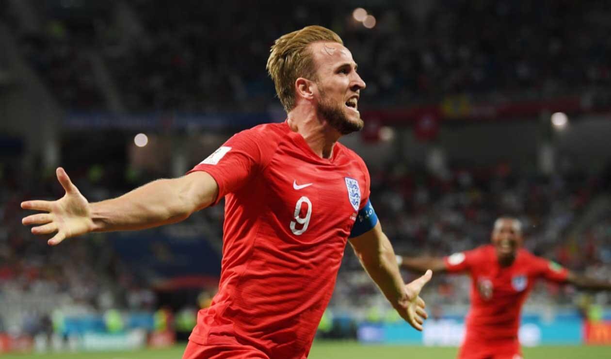 Harry Kane celebrando el gol del triunfo de Inglaterra sobre Túnez