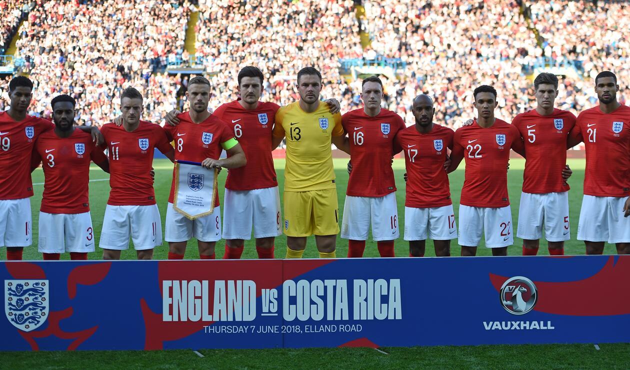 Inglaterra vs Costa RIca previo al Mundial Rusia 2018