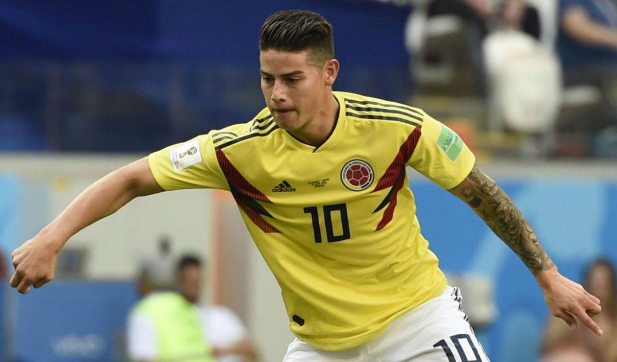 James Rodríguez, jugador de la Selección Colombia