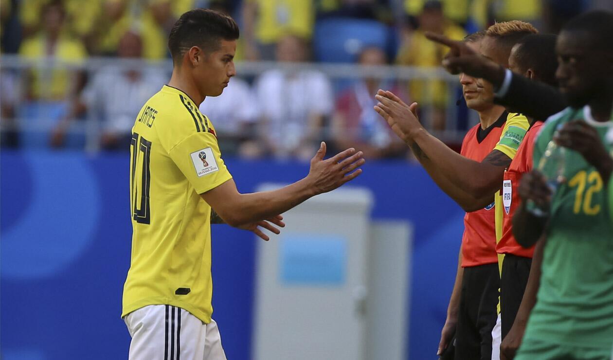 James Rodríguez salió lesionado ante Senegal