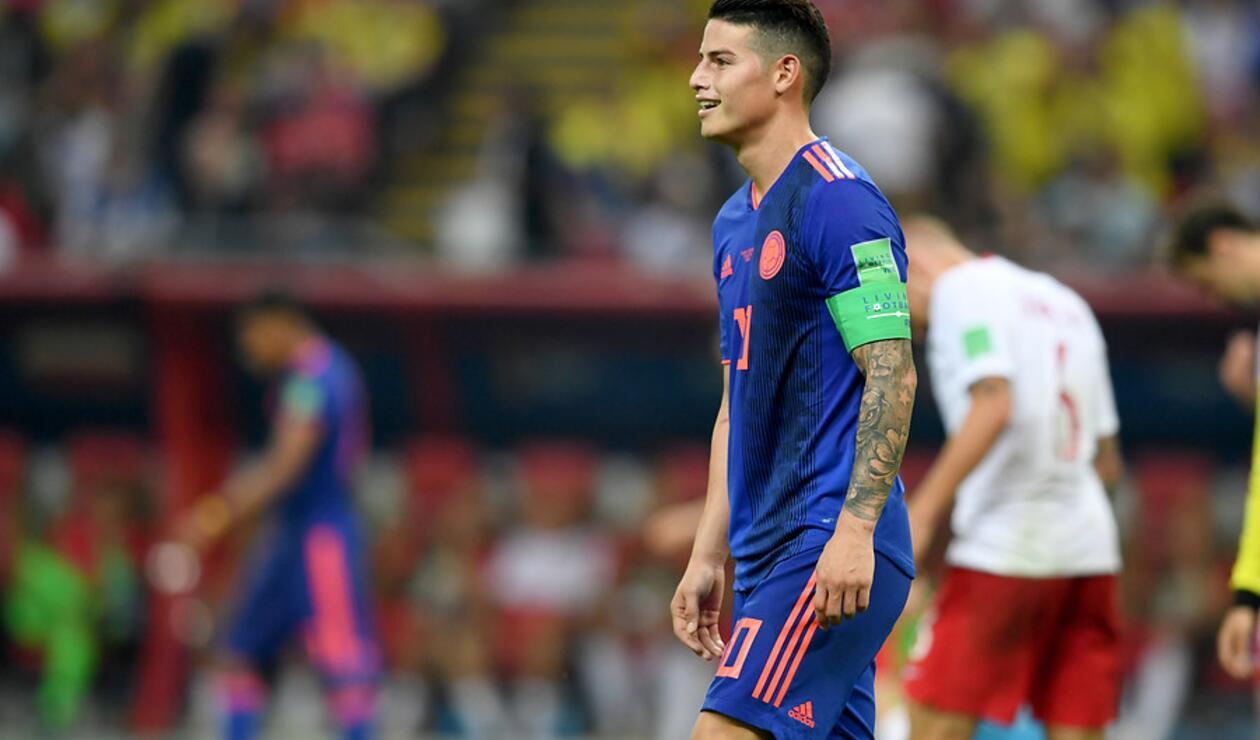 James Rodríguez fue una de las figuras de Colombia ante Polonia en Rusia 2018